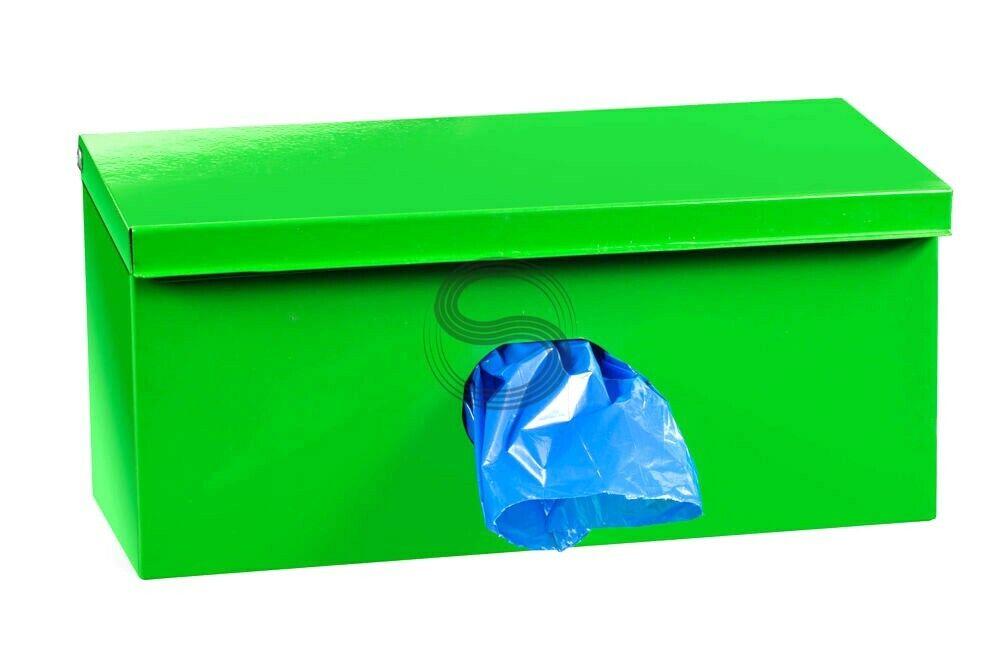 Locking Dog Waste Bag Dispenser + 600 Bio Pet Bags 1 mil. + Burgundy Sign  99