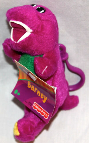"""NEW WITH TAG LOT OF 12 BARNEY PLUSH CLIP 5 1//2/"""" FISHER PRICE 2003 GREAT FAVORS"""