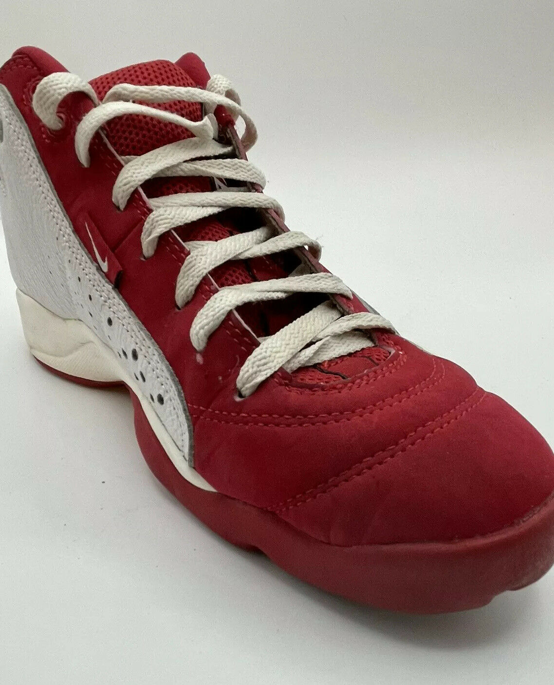 NIKE Air Team 2.0 Basketball Red White 90s Shoes … - image 7