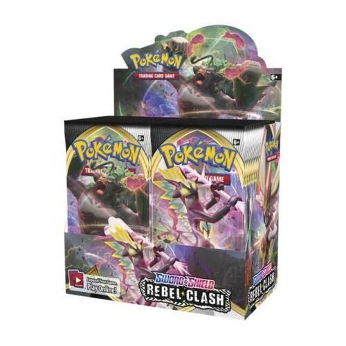 2 Booster Packs Pokemon TCG SWORD AND SHIELD Rebel Clash Set Booster Packs