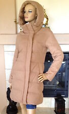 UNIQLO WOMEN STRETCH WOOL BLENDED DOWN COAT COLOR BEIGE NWT SIZE S MSRP: 169.90$