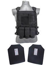 AR500 Steel Body Armor Wildcat Molle Carrier Vest + Level III Plates  Black