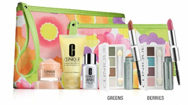CLINIQUE GIFT BOXED 7 Piece Set Makeup & Skincare BERRYS + Bag New & Sealed