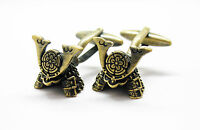 The Kabuto Armored Helmet Worn By Samurai Warrior Cufflinks Cuffs Japan Japanese