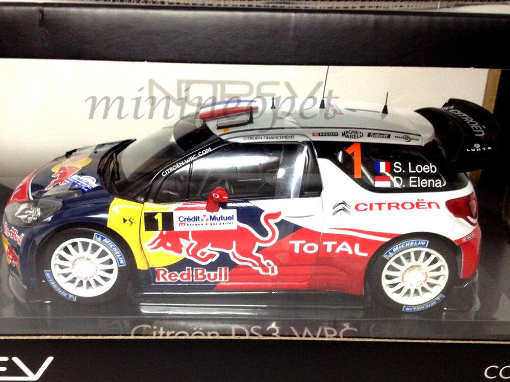 NOREV 181552 CITROEN DS3 1 WRC RALLY FRANCE WINNER 2012 rosso BULL 1 18 LOEB ELENA