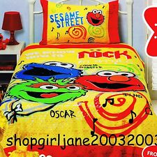 Elmo - Rock out in Style - Single/Twin Bed Quilt Doona Duvet Cover Set