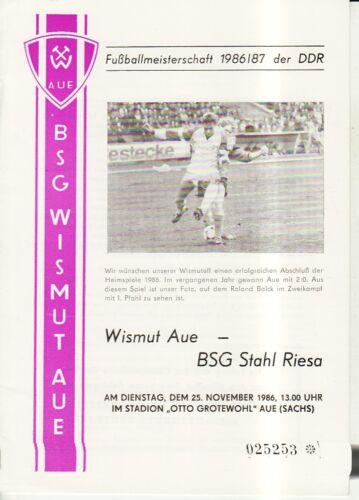 BSG Stahl Riesa OL 86//87 BSG Wismut Aue