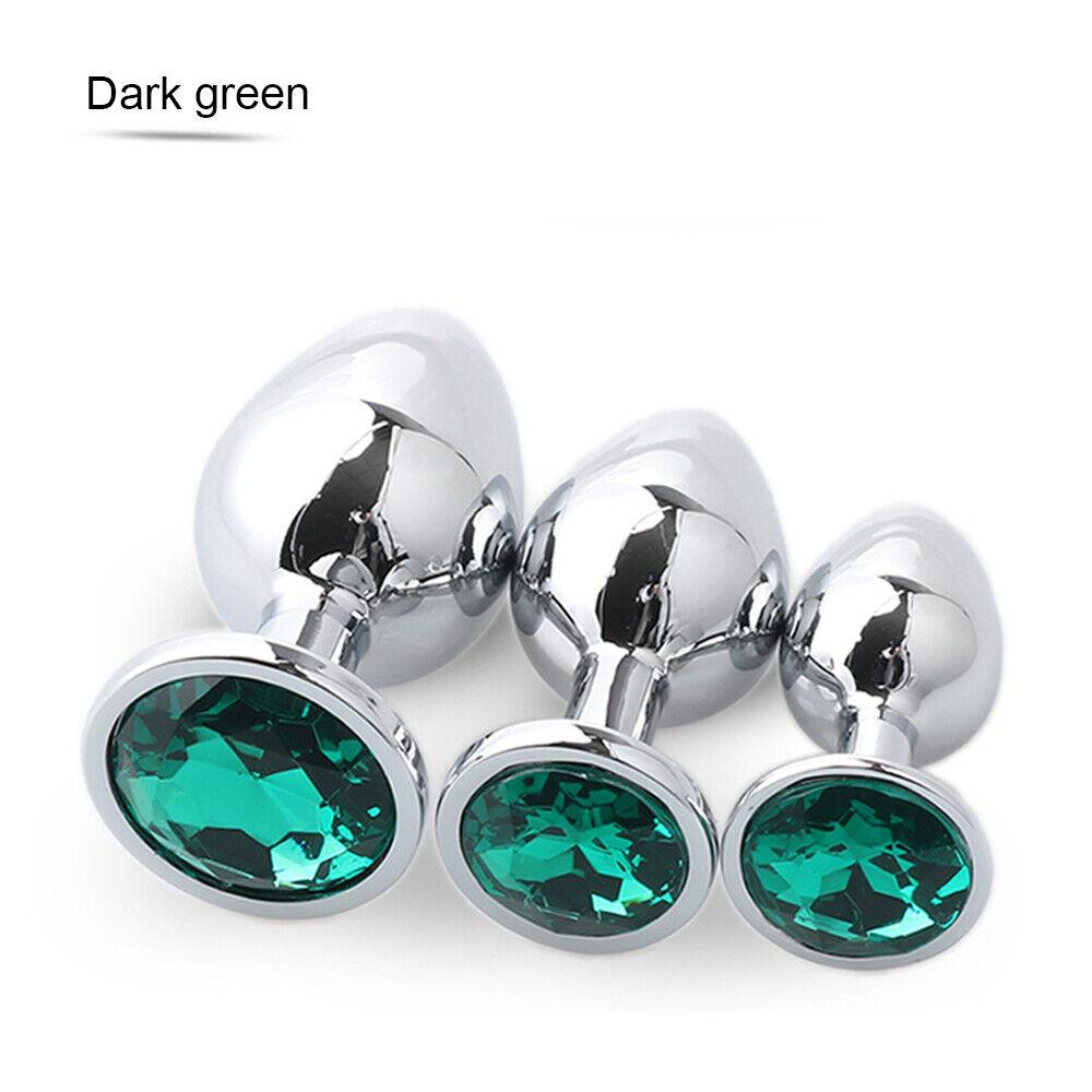 3 Size Set Diamond Jeweled Gem Sexy Stainless Steel Insert -5523