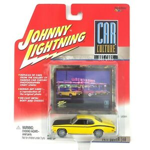 Johnny-Lightning-1971-71-Plymouth-Duster-340-Yellow-Car-Culture-Art-Diecast-1-64