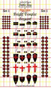 Chevaliers-Templiers-Sergents-I-Officel-Vulcain-Decalques-par-Battle-Flag