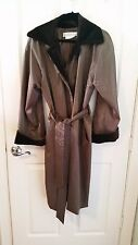 Givenchy Brown Shiny Coat with Velvet Trim - Size 36/4