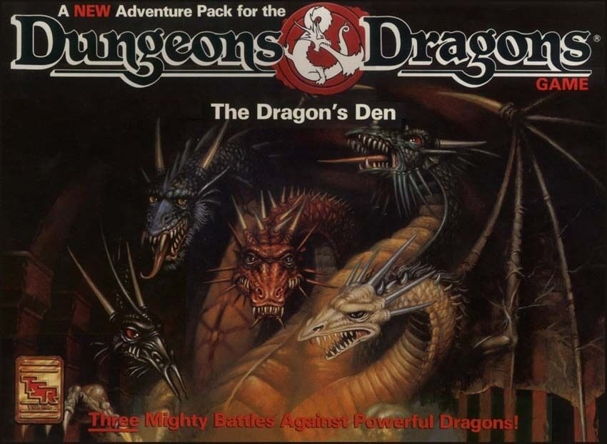 D&D THE DRAGON'S DEN TSR 1073 boxed  Dungeons & Dragons game NEW SEALED
