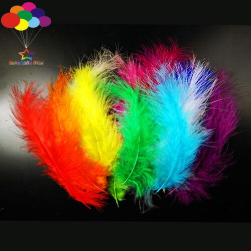 100 Pcs lake blue Macarons Colors Turkey Feathers Fluff Dream Catcher Material