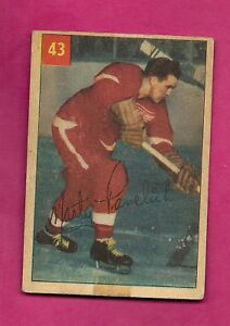 1954-55-PARKHURST-43-WINGS-MARTY-PAVELICH-VG-CARD-INV-A5798
