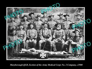 OLD-HISTORIC-PHOTO-OF-BOER-WAR-AUSTRALIAN-SOLDIERS-ARMY-MEDICAL-CORPS-c1900