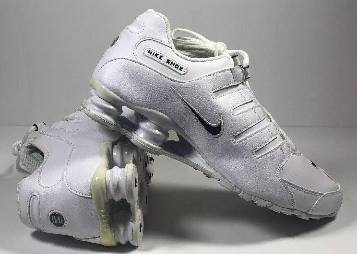 New Nike Shox NZ Classic White Running shoes Men SZ 10 NWOB