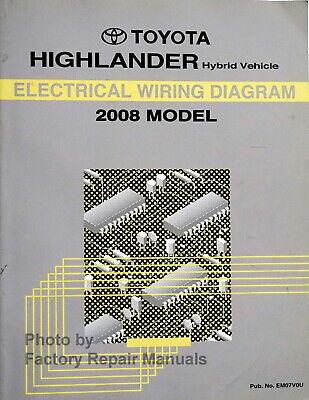 2008 Toyota Highlander Hybrid Electrical Wiring Diagrams Original Factory  Manual | eBay | Hybrid Wiring Diagrams |  | eBay