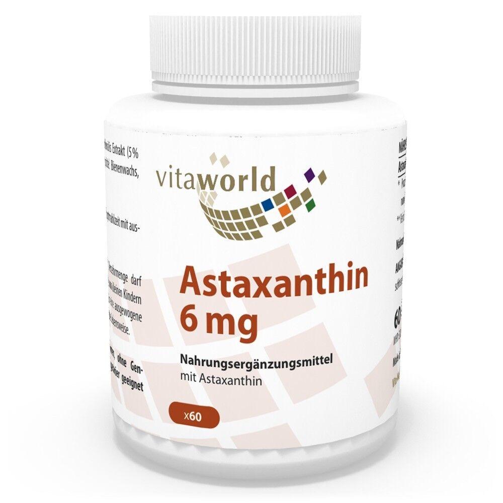 Vita World Astaxanthin 60 6 mg 60 Astaxanthin Capsules VEGI pharmacies fabrication MHD 06/2019 da7a28