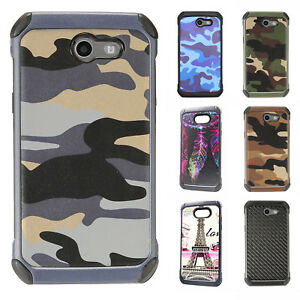 new styles ddea5 05adc Details about For Samsung Galaxy J3 Eclipse Rubber IMPACT TRI HYBRID Case  Skin Phone Cover