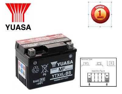 Batterie mbk cs50 MACH G LC Année de construction 2005 Yuasa ytx4l-bs