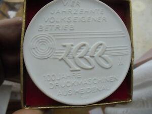 Details zu 29788 Meissen 100 Jahre VEB Druckmaschinen aus Heidenau Schachtel medal box 82mm
