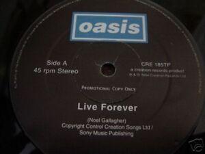 Oasis-Live-Forever-NEW-MINT-RARE-UK-promo-12-inch-vinyl-single