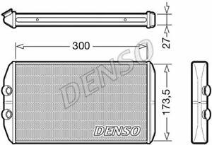 DENSO (DRR12008) Wärmetauscher Innenraumheizung für IVECO