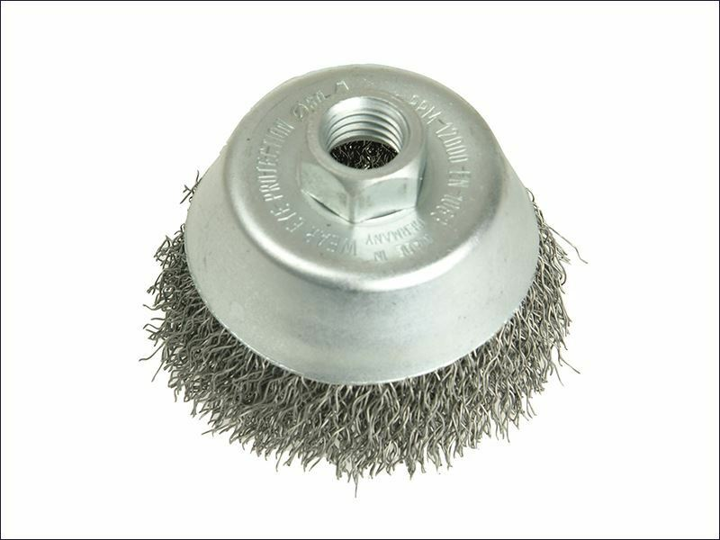 Lessmann - Cup Brush 125mm M14 x 0.35 Steel Wire