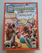 New Carcassonne Expansion - The Circus New Edition, Brand New with English Rules