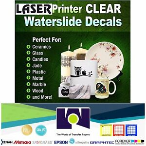 image regarding Printable Decal Paper identify Info over LASER Printable Waterslide Decal Paper, 25 Sh every single Crystal clear, A4 Measurement