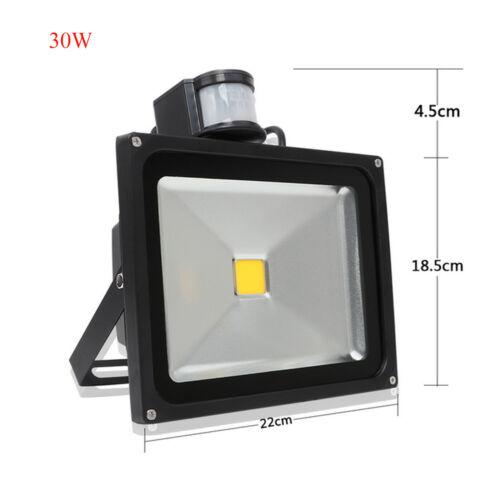 LED Security Flood Light Floodlight PIR Motion Sensor Dusk Till Dawn 20W 30W 50W