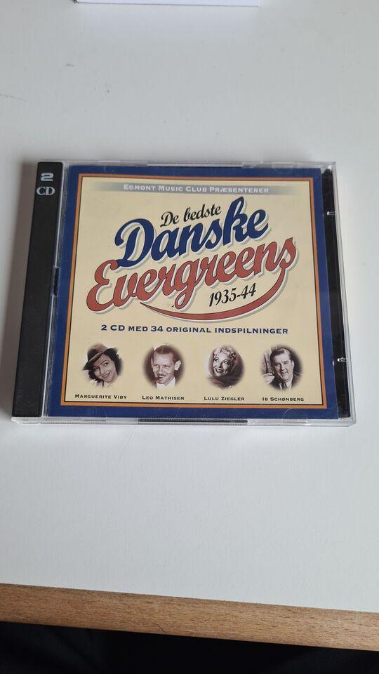 Various / Diverse: 2CD : De bedste danske evergreens