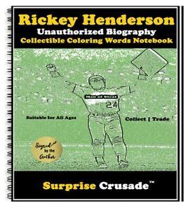 Rickey Henderson Baseball Card Sports Trading Card Notebook AUTHOR AUTOGRAPH SET