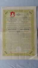 Budapester strade-FERROVIE-società-partial - ob bligo - 1000 corone - 1912