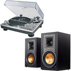 Klipsch R-15PM Bluetooth Speakers & Audio-Technica ATLP120USB Turntable