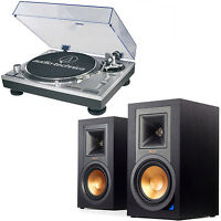 Audio-Technica ATLP120USB Professional Stereo Turntable + Klipsch R-15PM Powered Monitor Speakers