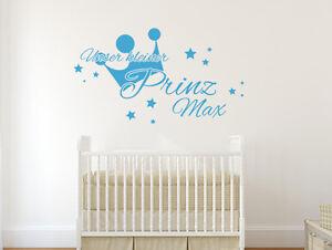 Wandtattoo Kinderzimmer Unser Kleiner Prinz Mit Wunschname Nr 2