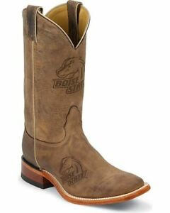 Nocona-MDBSU12-Men-039-s-Boise-State-University-Brown-Cowhide-Branded-College-Boots