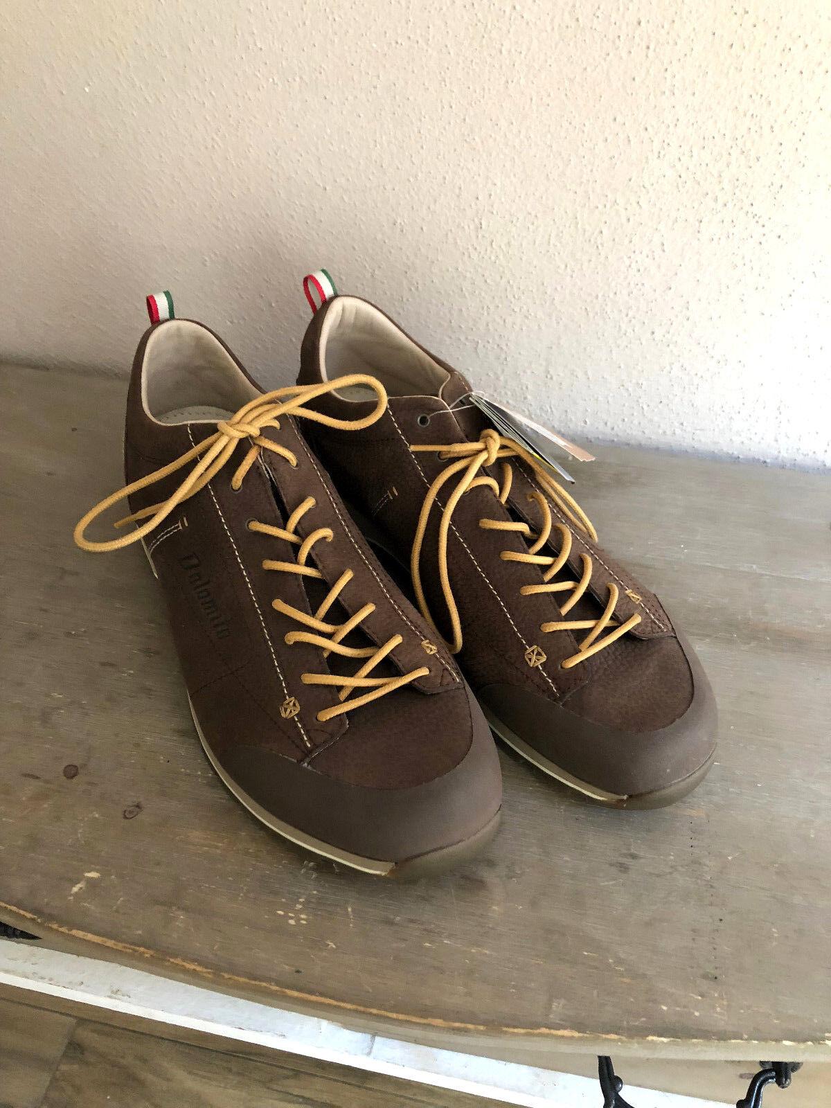 DOLOMITE Cinquantaquattro scarpe scarpe scarpe da ginnastica Scarpe Basse Marronee Pelle Tg 47 2 3 NP 159 324cfe
