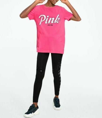 Victoria/'s Secret PINK CAMPUS SHORT SLEEVE SLIT BACK TEE Tie Dye S-L New