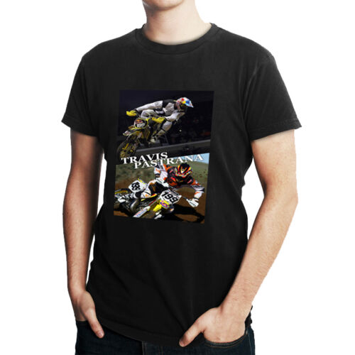 MX Riders Travis Pastrana Tee Black Cotton Tshirt Men/'s T-Shirt