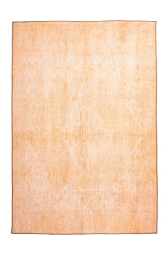 Tapis vintage aspect Use délavée Washed design Terra Orange 120x180cm