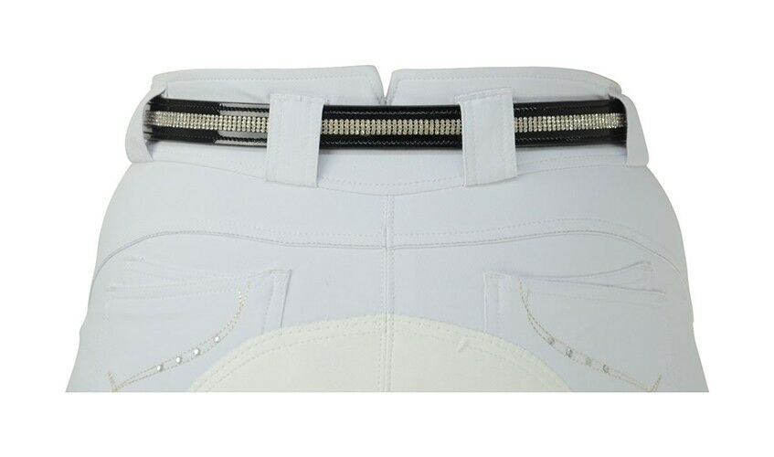 Hy Patent 4 Row Diamond Belt - Leather, sparkle, competition or smarten up casua