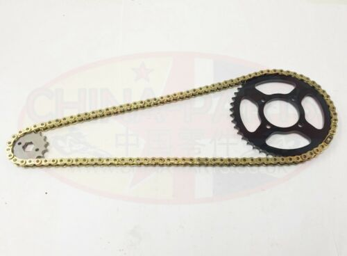 Gearing Upgrade 16T Heavy Duty Chain /& Sprockets GOLD Lexmoto Adrenaline 125