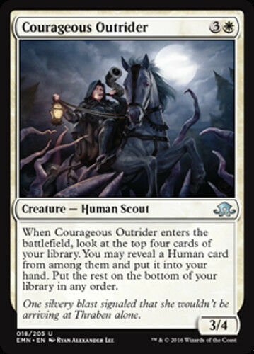 NEW 4x Courageous Outrider MTG Eldritch Moon