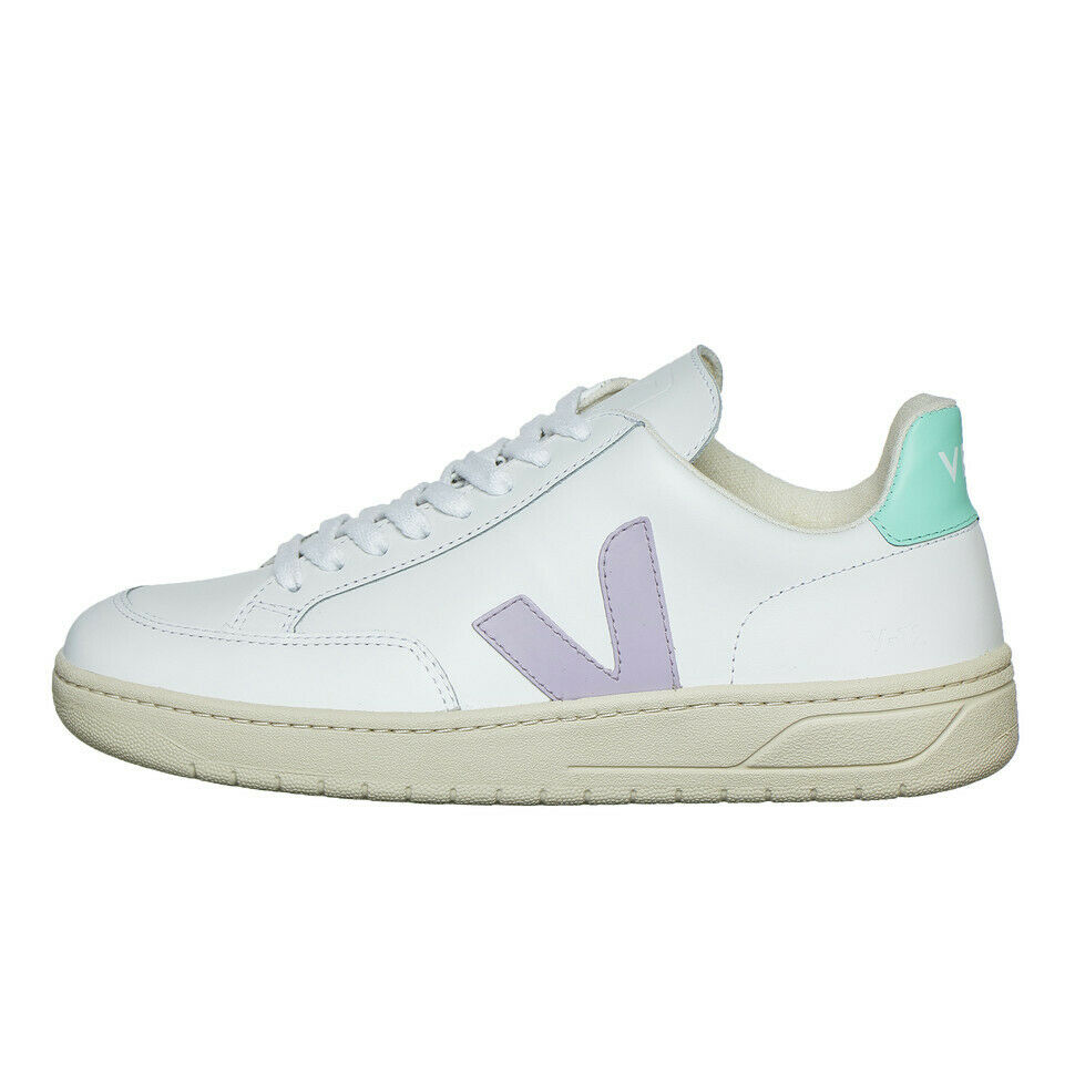 Veja - V-12 WMN Extra-Weiß   Parme   Turquoise Turnschuhe Schuhe