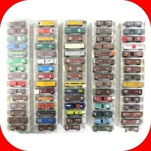 N-Scale-KADEE-MICRO-TRAINS-BOX-CAR-REEFER-Variety-lot-MTL-Couplers