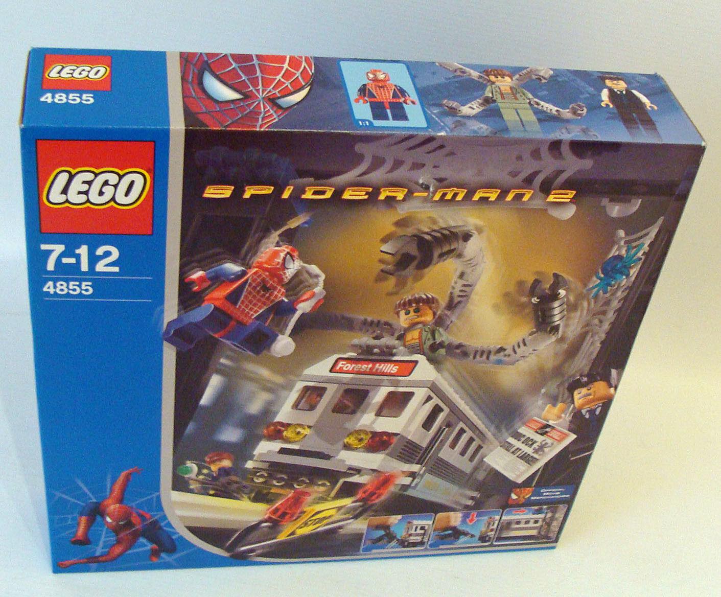 Lego® 4855 Spider-Man 2 - Spider Man Train Rescue 294 Teile 7-12 Jahren - Neu