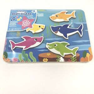8c1bedbb9 Image is loading Pinkfong-Baby-Shark-Chunky-Wooden-Sound-Puzzle-Plays-