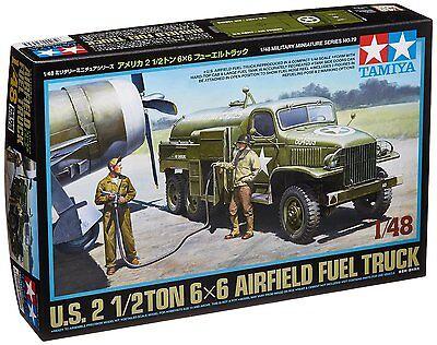New Tamiya 32579 US 2 1/2 Ton 6x6 Airfield Fuel Truck 1/48 Scale Kit Japan